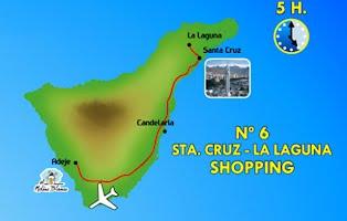 Taxi Adeje Tour 6 La Laguna Shopping