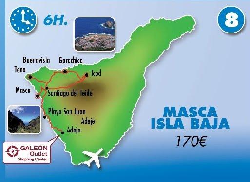 Taxi Adeje rutas - Masca - Isla Baja